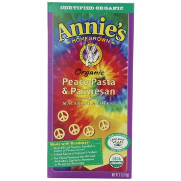 Annie's Organic Parmesan Peace Cheese Pasta, 12 Boxes,6oz (Pack of 12)