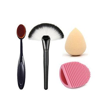TOPBeauty Makeup Brushes Tools Kit-2Pcs Pro Face Make Up Brush+Sponges Puff