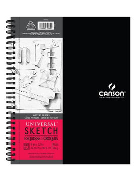 Canson Artist Series Sketch Book 9 in. x 12 in, 100 sheets [pack of 2]