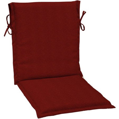 Arden Companies Arden Outdoors Sling Chair Cushion, Red Rib Woven