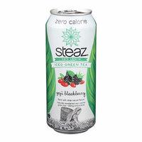 Steaz Zero Calorie Green Tea - Blackberry - Pack of 12 - 16 Fl Oz.