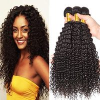 BAINUO 8A Grade Peruvian Kinky Curly Virgin Hair 4 Bundles Unprocessed Deep Curly Weave Human Hair Extensions Natural Color Can Be Dyed and Bleached