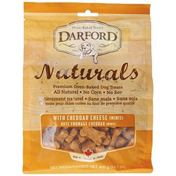 Darford Naturals Cheddar Cheese Minis Oven Baked Treats for Dogs