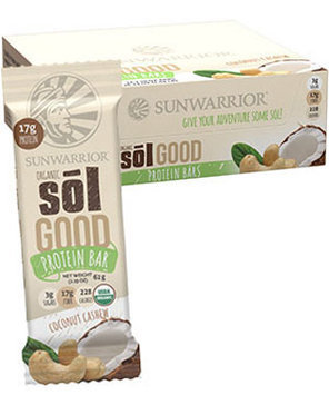 Sunwarrior Sol Good Protein Bars Coconut Cashew