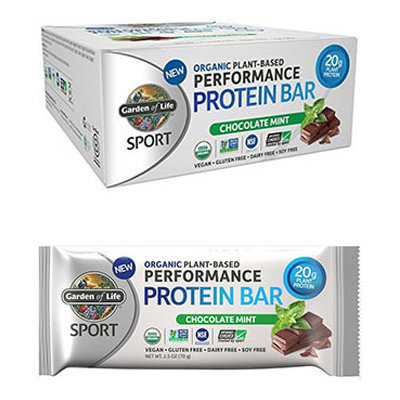 Garden Of Life Sport Organic Plant Based Performance Protein Bars Chocolate Mint