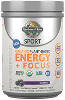 Sport Organic Plant-Based Energy+Focus Blackberry Garden of Life 173 grams Powder