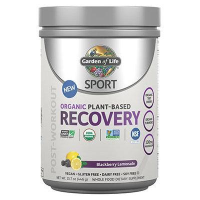 Sport Organic Plant-Based Recovery Blackberry Lemonade Garden of Life 446 grams Powder