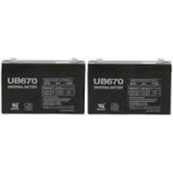 UB670 6 Volt 7 AMP SLA/AGM Battery 2 Pack + FREE SHIPPING!