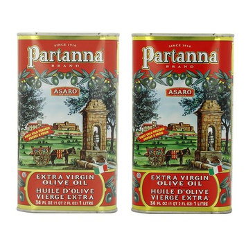 Partanna Extra Virgin Olive Oil 1 Liter (34-ounce) Can (Pack of 2) : Grocery & Gourmet Food