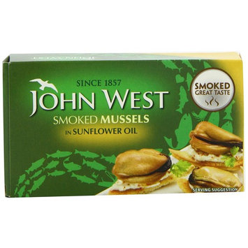 John West Smoked Mussels in Sunflower Oil (85g) - Pack of 6