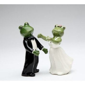 CosmosGifts Frog Wedding Couple Salt and Pepper Set