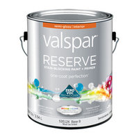 Valspar Reserve Interior Semi-Gloss Tintable White Latex-Base Paint and Primer in One (Actual Net Contents: 120-fl oz) 007.0535124.007