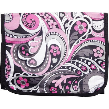 Best Large Pink Paisley Hanging Cosmetic Toiletry Bag Case Shower Caddy Unique Cool Back to School Supplies Great Popular Gift Idea Under 15 Dollars for Women Her Teen Girl Kid Grandma Mother in Law