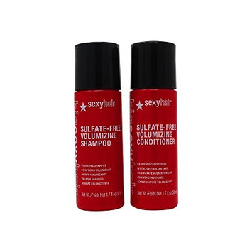 Bundle - 2 Items : Big Sexy Hair – Sulfate-Free Volumizing Shampoo and Conditioner – 1.7 Oz Each (Travel Size)