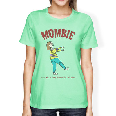 Sleep Deprived Womens Short Sleeve Halloween T-Shirt For New Moms