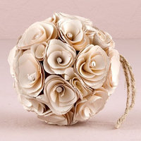 Medium Floral Pomander Ball in White