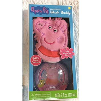 Peppa Pig Microfiber Wash Buddy with Bubble Gum Scented Bodywash