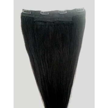 18inches One Long Piece Clip In Human Hair Extensions, 4 clips, 1 Jet Black