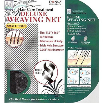 DONNA ANTIBACTERIAL TREATMENT DELUXE WEAVING NET SMALL HOLE #22313 BLACK