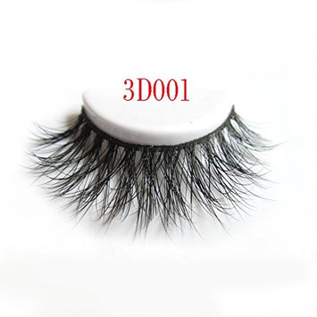 Arison Lashes 3D Mink Fur Fake Eyelashes Women's Makeup False Lashes Hand-made 3D Style 1 Pair Package