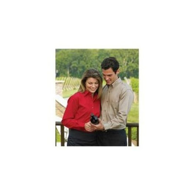 Whispering Pines Sportwear 626 Mens Long Sleeve Non Stick Surface Soil Release Woven Shirt, White, 3XL