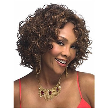 YOURWIGS Short Curly Wave Hair Wigs Afro Synthetic Wig for Black Women Z007