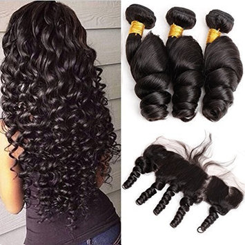 3 Bundles Mink Hair Loose Wave with 13x4 Frontal (26