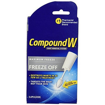 Compound W Freeze Off Wart Removal System, 8 disposable applicators - Buy Packs and SAVE (Pack of 2)