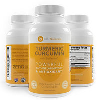 Organic Turmeric Curcumin with BioPerine Black Pepper 2Months Supply of 1300mg - Equivalent to 10,600mg of Daily Tumeric - 95% Standardized Curcuminoids - Joint Support Mobility Pain Relief Supplement
