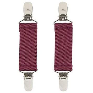 Holdem Hold'Em Boot Straps Elastic EXTRA STRONG METAL CLIP Made in USA comfortable and Easy to Use Keeping Pants Smoothly and Nicely Tucked in Boots - 4' Inch (Available in Many Colors)-Burgundy
