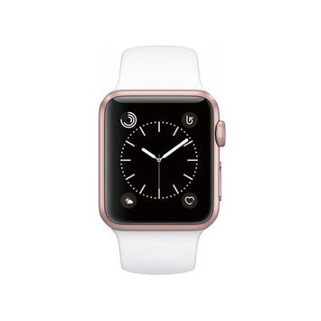 Pre-Owned Apple Watch Series 1 38mm Rose Gold Aluminum Case with White Sport Band