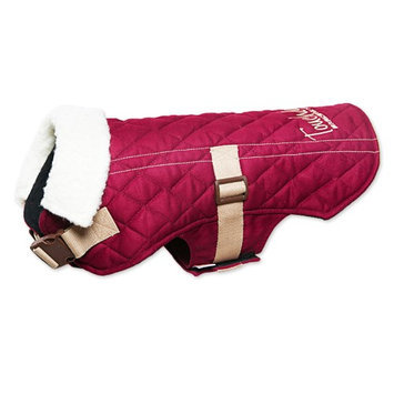 Touchdog Original Sherpa-Bark Designer Fashion-Forward Dog Coat, Dark Pink, Large
