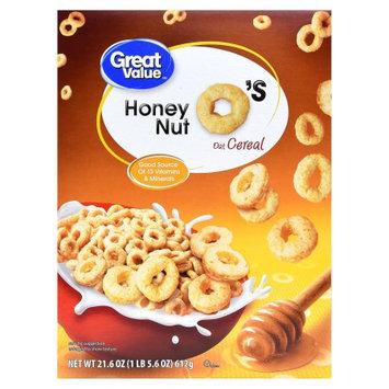 Wal-mart Store, Inc. Great Value Honey Nut Spins Cereal, 21.6 oz