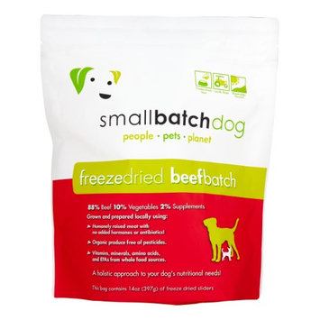 SmallBatch Freeze Dried Sliders for Dogs Beef 14 oz Bag