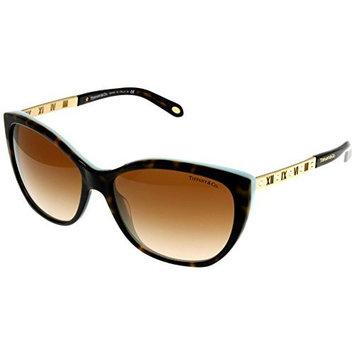 Tiffany & Co Sunglasses Womens Havana Butterfly TF4094B 81343B Size: Lens/ Bridge/ Temple: 59-16-140