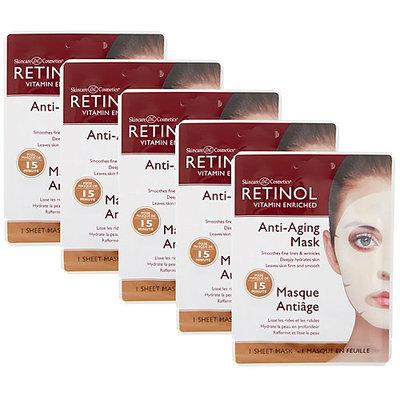 Retinol Anti-Aging Sheet Mask - Pack of Five - Women