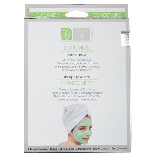 Facial Masks 2 Ct Peel-Off Cucumber Boxed Facial Therapy, Case of 24