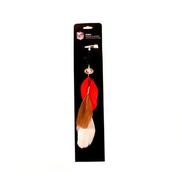 San Francisco 49ers Fan Feather Hair Clip Extension