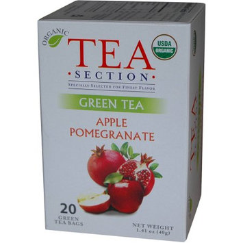 Tea Section Apple Pomegranate Organic Green Tea 20 Bags - Case of 6