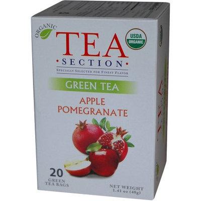 Tea Section Apple Pomegranate Organic Green Tea 20 Bags - Case of 6