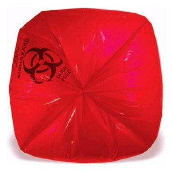Heritage Healthcare Biohazard Can Liners, 33 Gallons, 33in. x 39in, 1.3 Mil, Red, Box Of 150