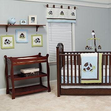 Pam Grace Creations 10 Piece Crib Bedding Set, Mr. & Mrs. Pond