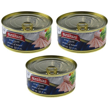 Krakus Luncheon Meat Pack of Three - 10.5 Ounce Cans