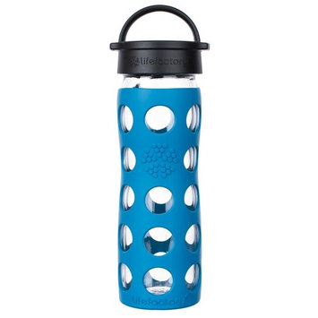 Glass Water Bottle with Classic Cap and Silicone Sleeve Core 2.0 Teal Lake - 16 fl. oz.