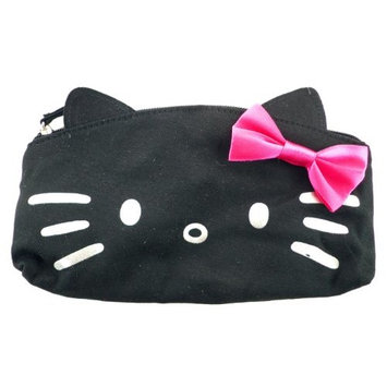 SANRIO Hello Kitty Black CANVAS COSMETIC BAG, Licensed,Multi,8