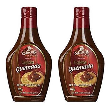 Coronado Cajeta Quemada - Regular Flavor (Squeeze Bottle) 23.3 oz (Pack of 2)