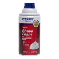 Equate Regular Shave Foam, 11 oz