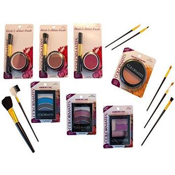 Makeup Bundles - Eye Shadow/Blush w Brush Kit/Pressed Powder Compact   Each Bundle Includes (1) FREE Set Cosmetic Brushes