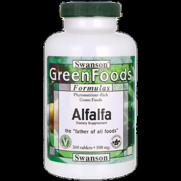 Swanson Greenfoods Formulas Swanson Alfalfa 500 mg 360 Tabs