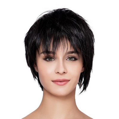 Kalyss Women's or Men's Short Blue Bob Wig with Hair Bangs Anime Cosplay Costume Heat Resistant Synthetic Hair Piece Wig for Women